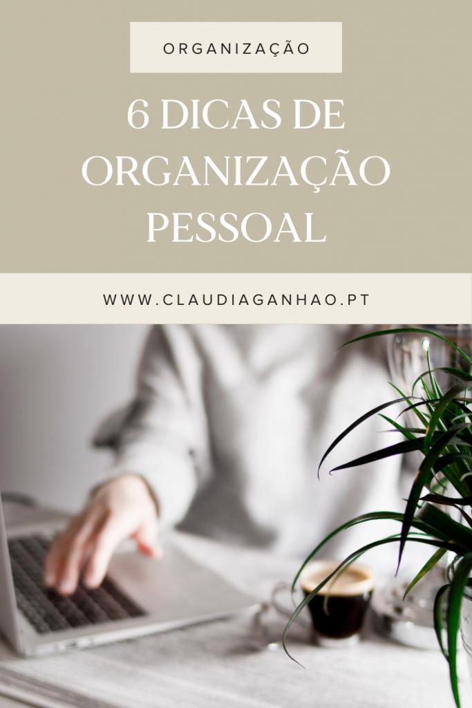 dicas de organização pessoal