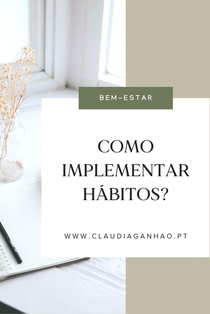 como implementar hábitos